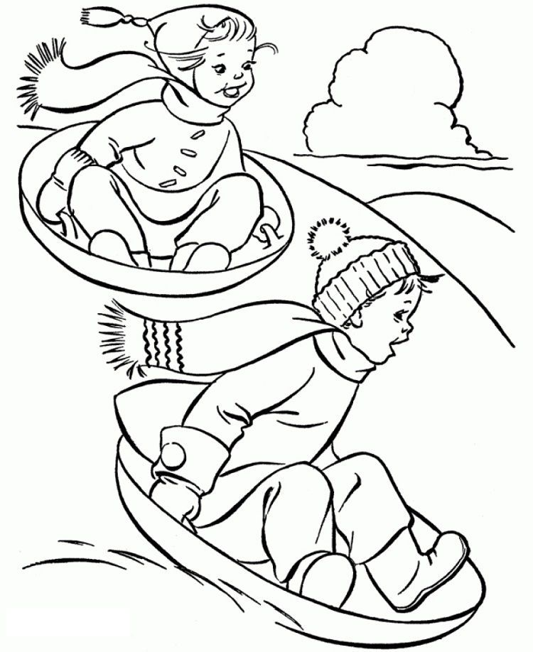 Winter Coloring Pages Middle School Coloring Pages Winter Sports Coloring Pages Coloring Pages