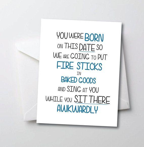 Funny Birthday Card Sarcastic Birthday Card Make Your