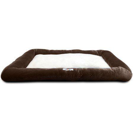 Aspca Stripe Plush Mat, Brown