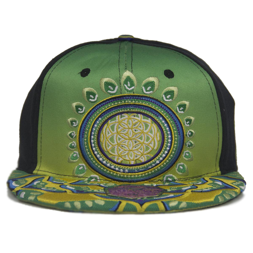 Embroidered Flower of life hat by Michael Garfield V2   Grassroots  California 2185a9c8f9b4