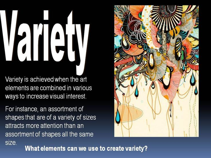Elements Of Visual Arts : Art principles of variety google search design