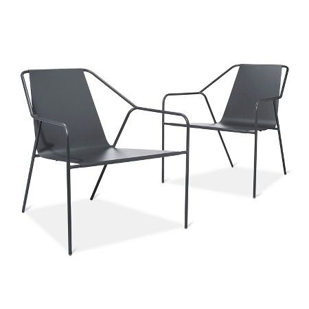 dwell modern lounge furniture. $269.99 For Two Outdoor Lounge Chair 2 Pk Gray - Modern By Dwell Magazine : Target Furniture C