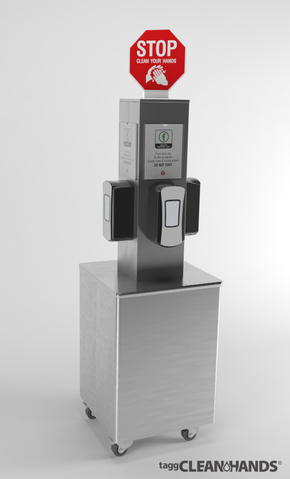 Tagg CleanHands® Sanitizing Stations are the only hand
