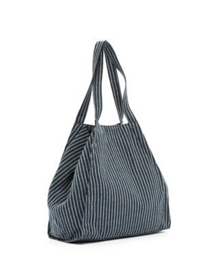 Trapeze Tote in Striped Irish Linen-S7IRI-H0366 | Eileen Fisher love ...