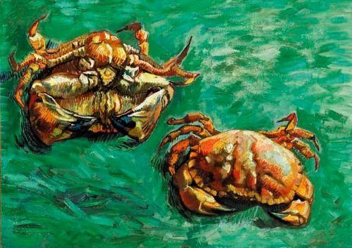 Vincent van Gogh. Two Crabs. Jan 1889