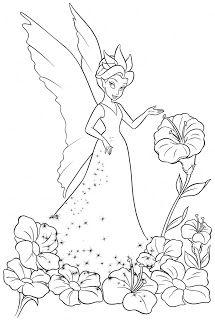 Desenhos Da Sininho Para Colorir Disney Paginas De Fadas Para