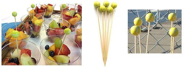 Tennis Cocktail Sandwhich Toothpicks
