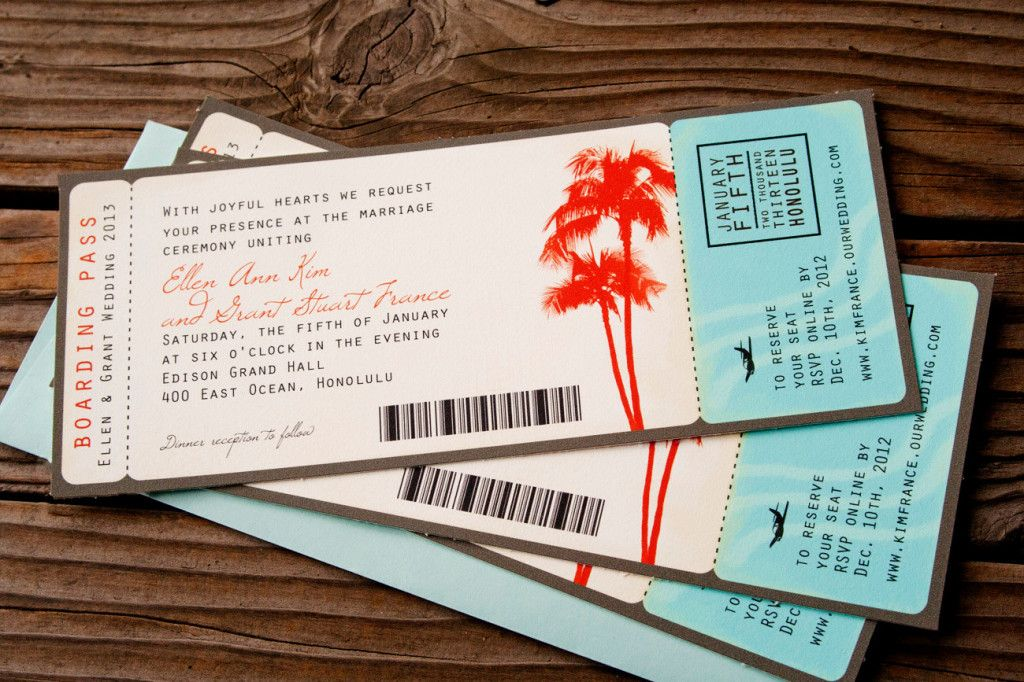 Boarding Pass Wedding Invitations Template Free For The Home - Wedding invitation templates: boarding pass wedding invitation template