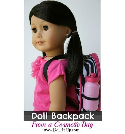 Tutorial: Make a doll backpack from a cosmetic bag