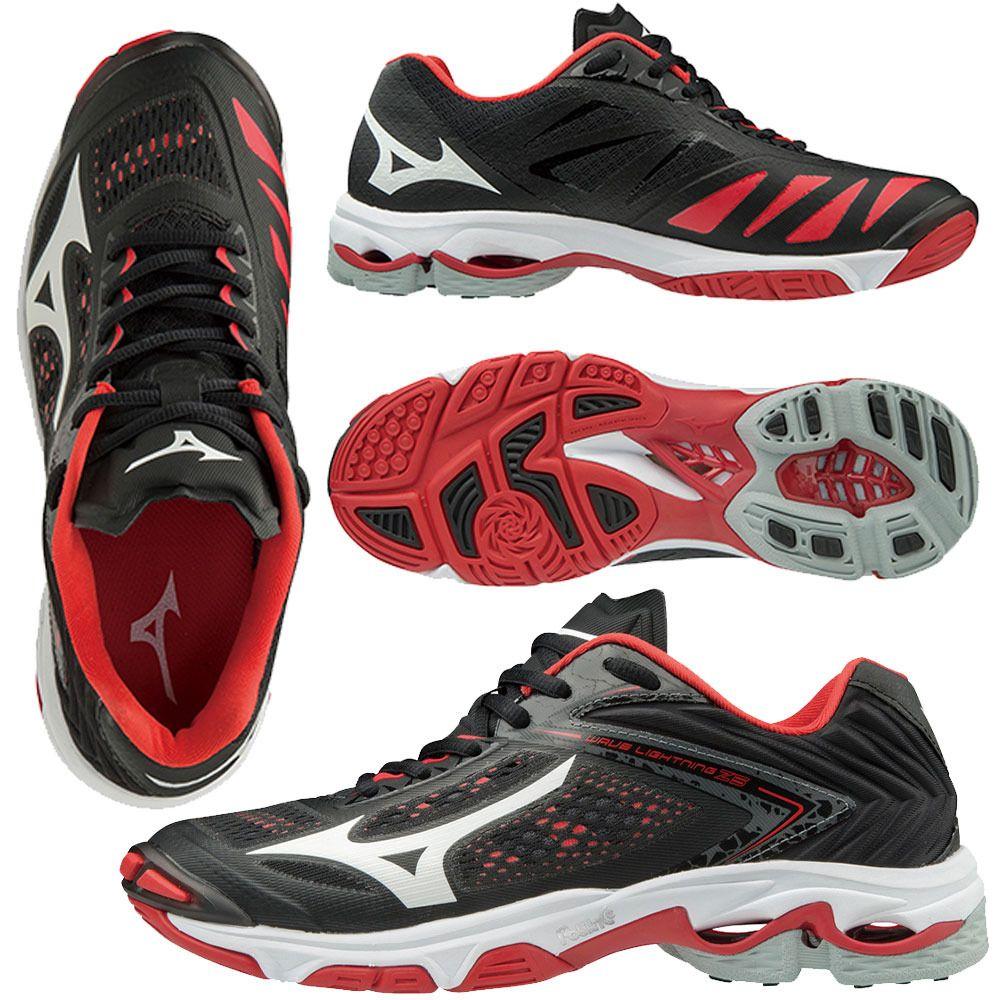 Mizuno Women S Wave Lightning Z5 Black Red Mizuno Me Too Shoes Women