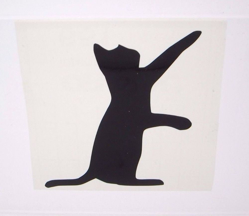 Vinyl Decal Cat Play Silhouette Animal Personal Decal Stickers - Vinyl decal cat pinterest