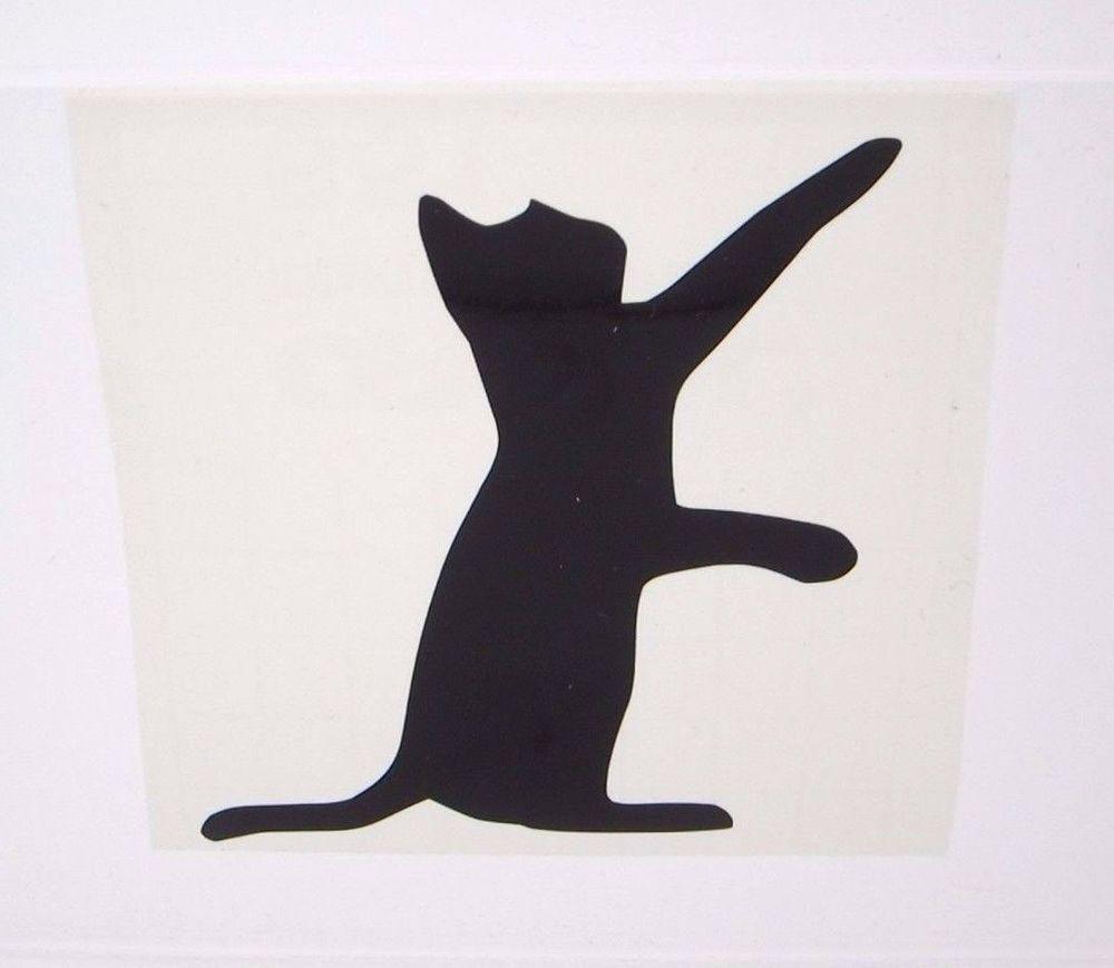Vinyl Decal Cat Play Silhouette Animal Personal Decal Stickers - Vinyl decal cat pinterest
