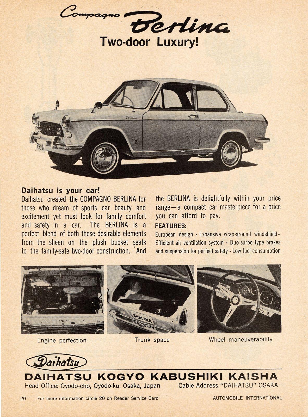 1964 daihatsu compagno berlina daihatsu and cars photo vanachro Gallery
