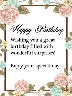 This Beautiful Happy Birthday Card Is The Perfect Card For The