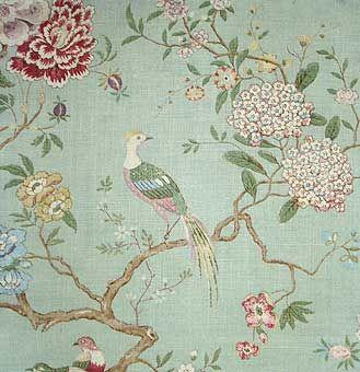 Oriental bird gp j baker for headboard in bedroom for Papel pintado oriental