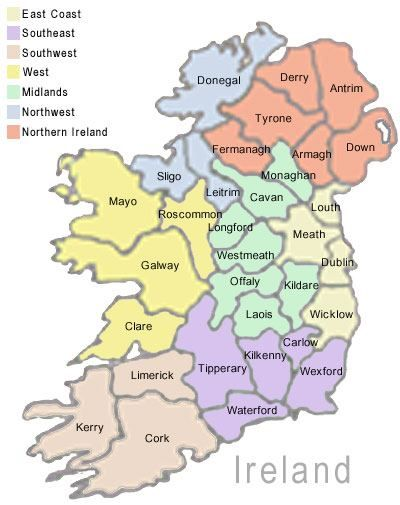 Counties In Ireland This Gives A Great Perspective Of What Is The