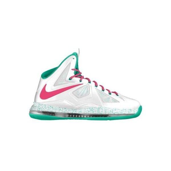 Nike LeBron X iD Custom Women's Basketball Shoes - White ...