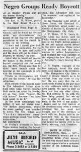 Newspaper Article Regarding The Montgomery Bus Boycott In 1955