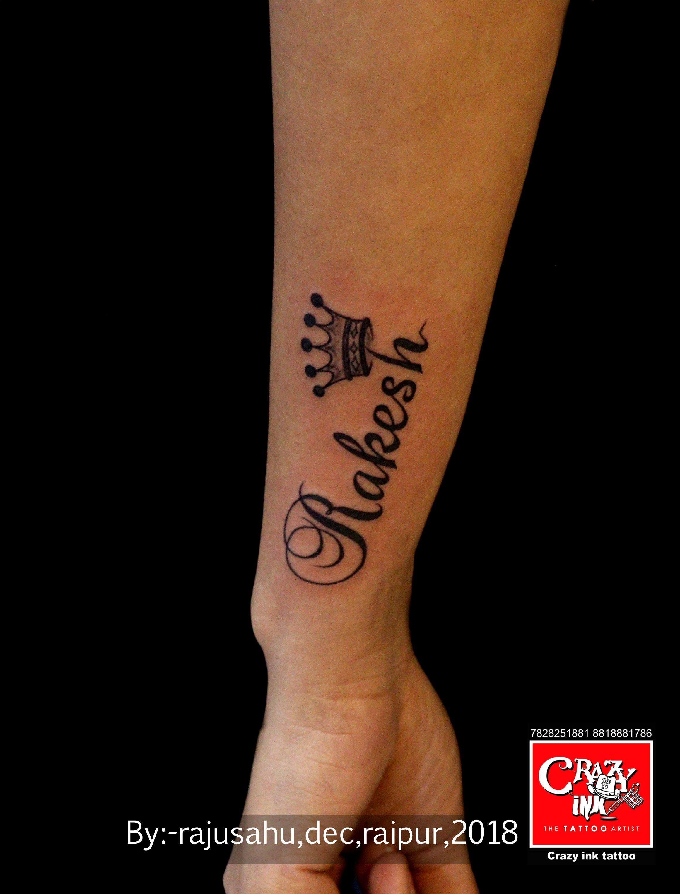name tattoo design. rakeshnametattoo raipurartist