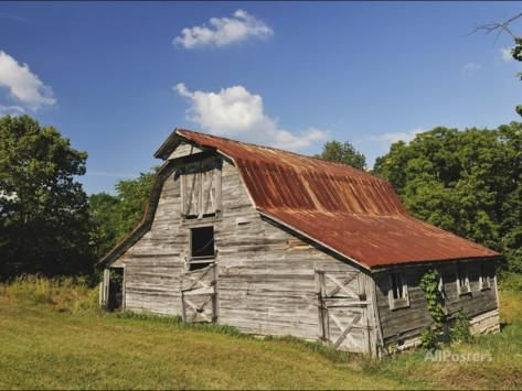 A 100 Year Old Barn Sits Along Historic Maple Grove Road