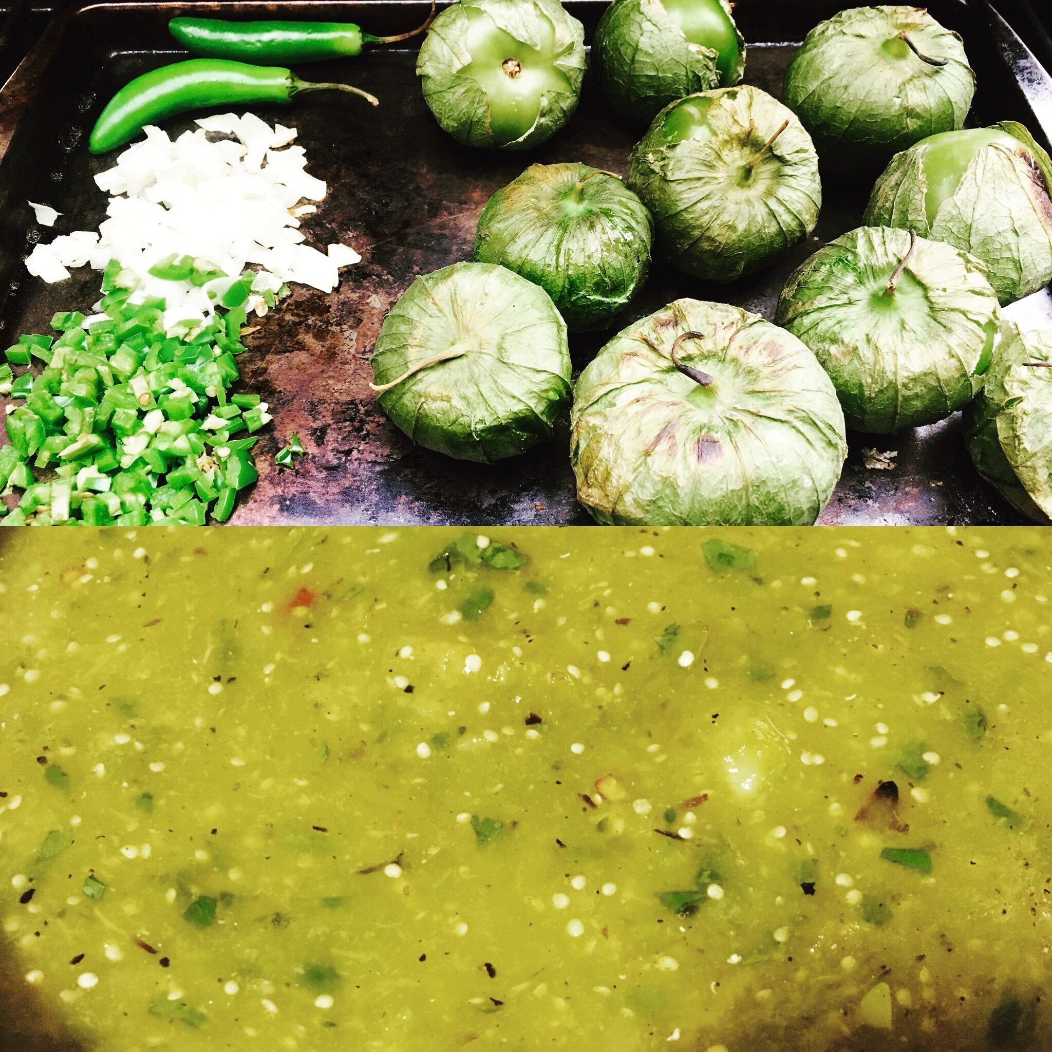 Viva la homemade salsa verde