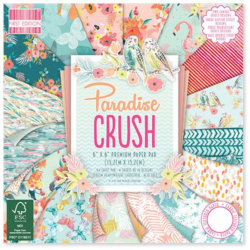 First Edition Hey Baby Premium Paper Pad 6x6 48 Sheets FSC
