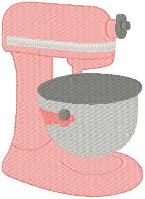 Digital Design File A Mixer Embroidery Design With A Mixer Cover Pattern To Fit Applique