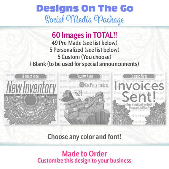 4 Design Tips to Make Your Social Media Images Better Social - personalized invoices