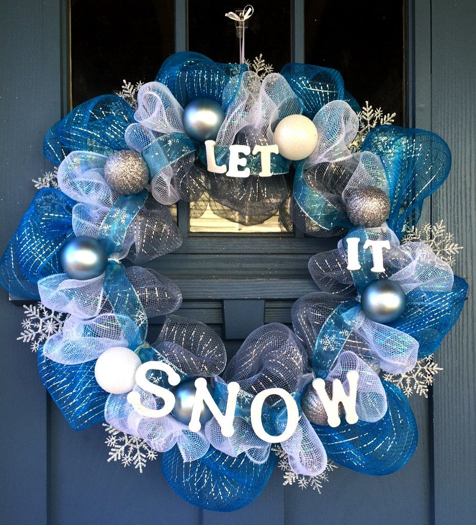 Let It Snow Wreath | Winter Tablescapes, Decorated Hutches and Decor ...