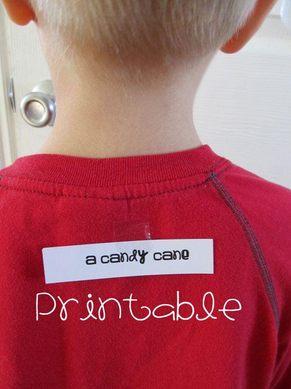 Printable- PDF- Christmas Who Am I- Party Game Idea, family friendly