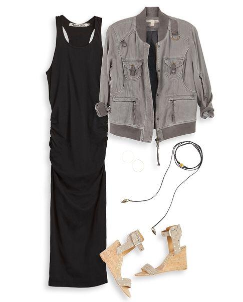 Michael Stars Tank Midi Dress, Peyton Jensen Flight Jacket