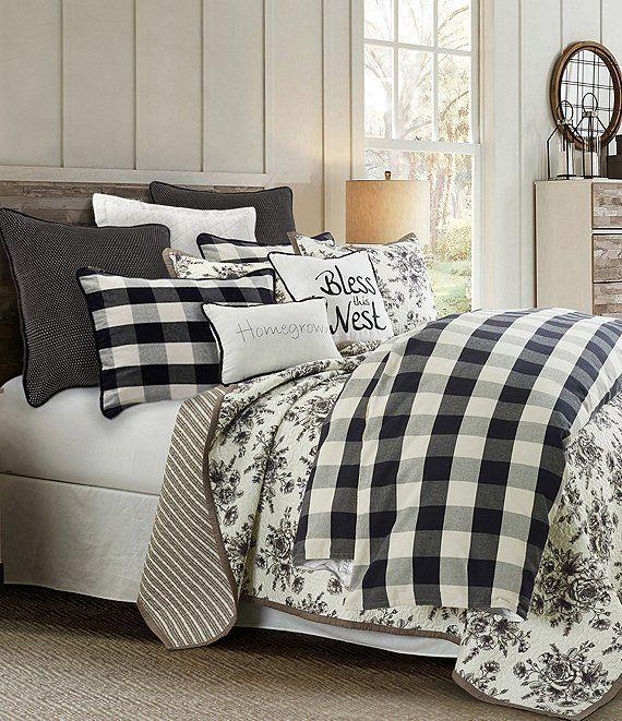 Hiend Accents Camille Black Buffalo Check Mini Duvet Set Dillard S Farmhouse Bedding Sets Comforter Sets Duvet Sets