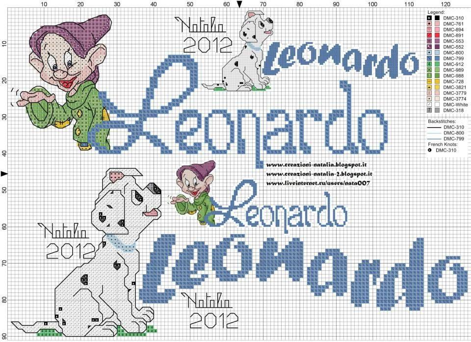 Disney nomi e frasi cross stitch punto croce e stitch for Ricamo punto croce lettere
