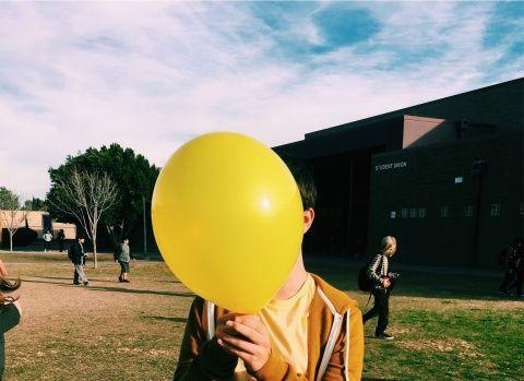 palloncino con illustrazione sopra