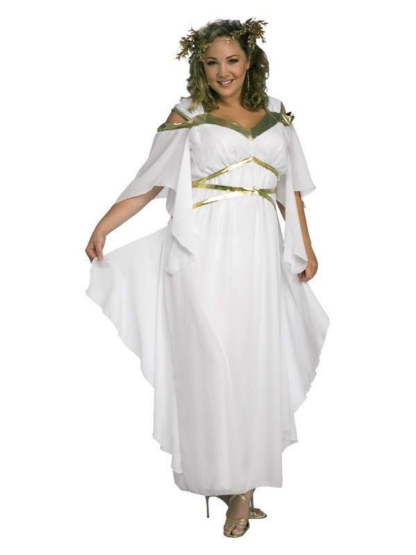 Adult Womens Xl Uk 16 18 Roman Goddess Toga Fancy Dress Costume Plus
