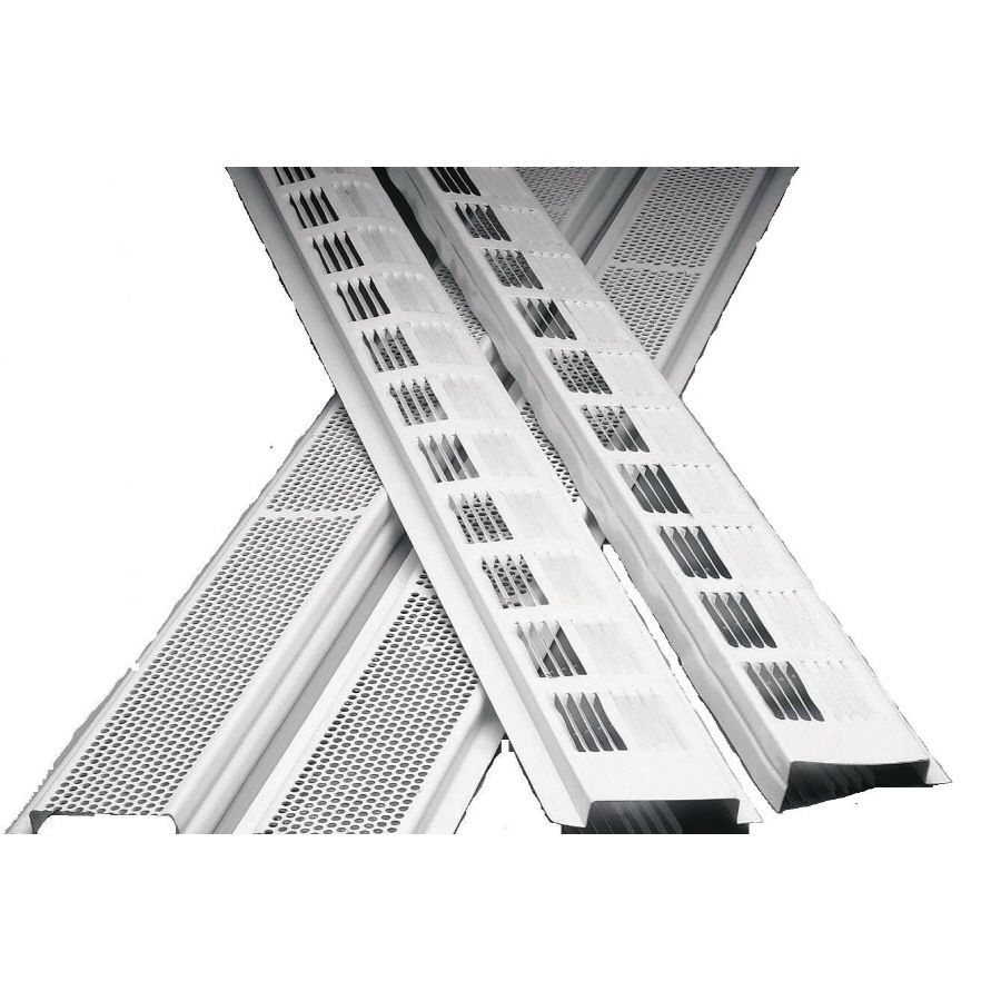 Air Vent Inc 96 In L White Aluminum Soffit Vent Attic Ventilation Soffit Ideas Home Inspector