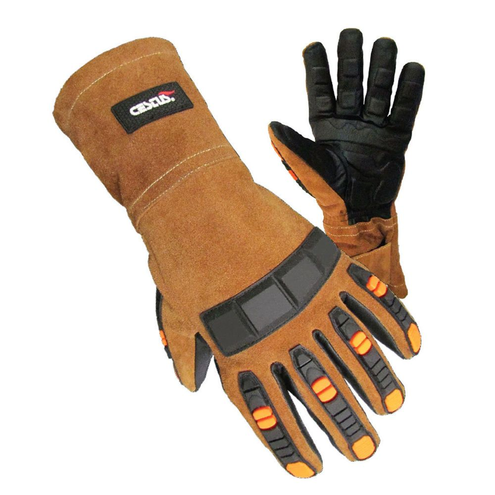 1e71db507 Find many great new & used options and get the best deals for Gauntlet Leather  Gloves Heat Cut Resistance Gel Impact Protection TX Original at the best ...