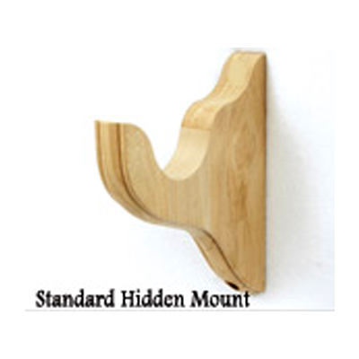 Standard 4 1 2 Projection Unfinished Wooden Curtain Rod Wall Brackets