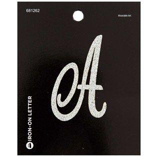 Glitter Iron-On Monogram Letter @ Hobby Lobby  **Would look