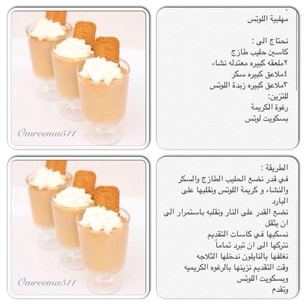مهلبية اللوتس Arabic Dessert Food And Drink Dessert Recipes