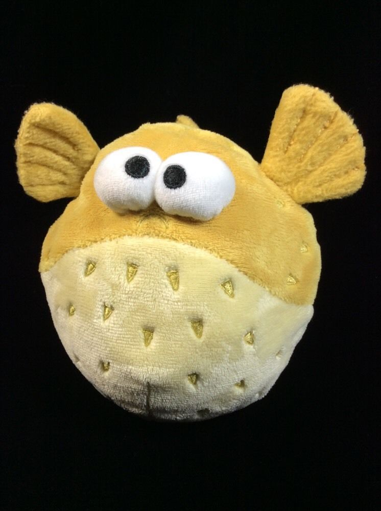 Disney store bloat finding nemo puffer fish plush soft toy for Fish stuffed animal