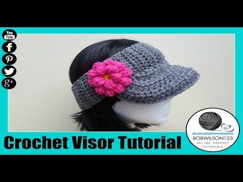 34f3e2b03e8 The Curtis Visor Crochet Tutorial - YouTube