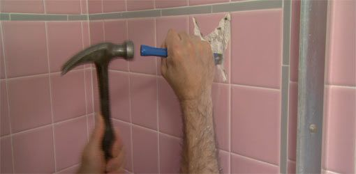 How To Remove A Bathroom Wall Tile Removing Bathroom Tile Bathroom Wall Bathroom Wall Panels