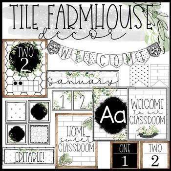 Tile Farmhouse Classroom Decor Bundle