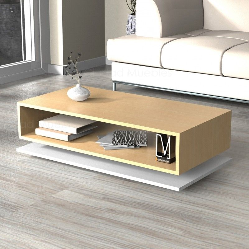 Mesa ratona rectangular con base dise o moderno oferta for Mesas plegables salon diseno