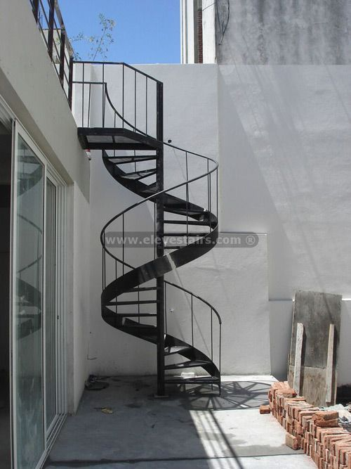 Best Pre Fab Spiral Stairs Staircase Outdoor Exterior Stairs 640 x 480