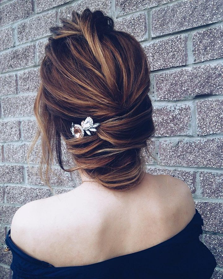 Beautiful wedding hair inspiration , low bun wedding hair idea | chignon wedding hairstyle #weddinghair #weddinghairideas #hairinspiration #hairstyle #hairideas #updo