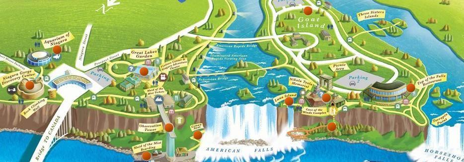 Map Of Niagara Falls State Park Niagara Falls Map Niagara