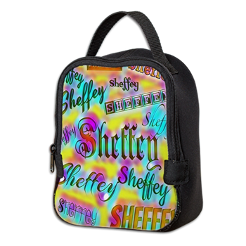 Sheffey Fonts - Yellow and Pink Rainbow 9642 lunch bag - great for work.