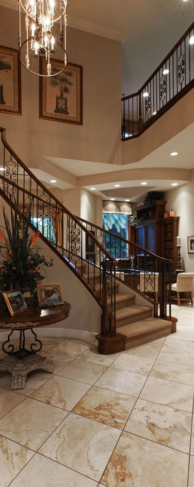 Best Stunning Spiral Staircase In A Luxury Home In The 400 x 300